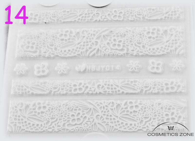 Naklejki 2D na paznokcie manicure Cosmetics Zone 664542384 www.cosmeticszone.pl