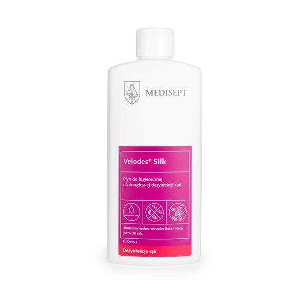 Medisept Velodes Silk płyn do dezynfekcji skóry rąk Cosmetics Zone 664542384