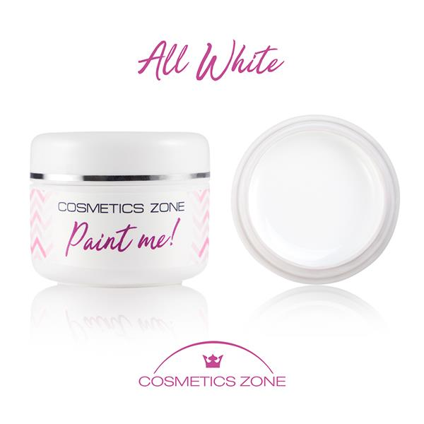 Paint Me Farbka UV LED All White Cosmetics Zone 664542384 www.cosmeticszone.pl