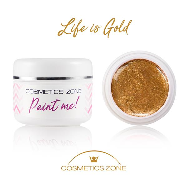 Paint Me Farbka UV LED Life is Gold Cosmetics Zone 664542384 www.cosmeticszone.pl