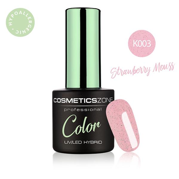 Lakier hybrydowy z czarnymi drobinkami Cosmetics Zone 664542384