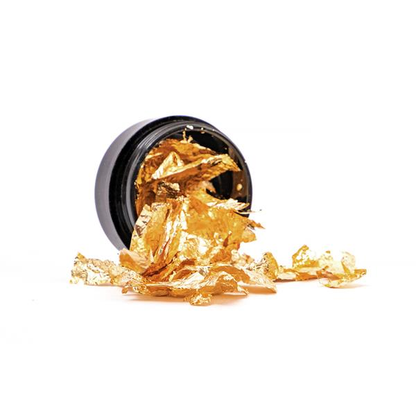 Pazłotko - metaliczne płatki do zdobień w kolorze złotym 7ml Cosmetics Zone 664542384