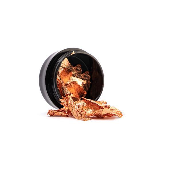 Pazłotko - metaliczne płatki do zdobień w kolorze miedzianym różowym 7ml Cosmetics Zone 664542384
