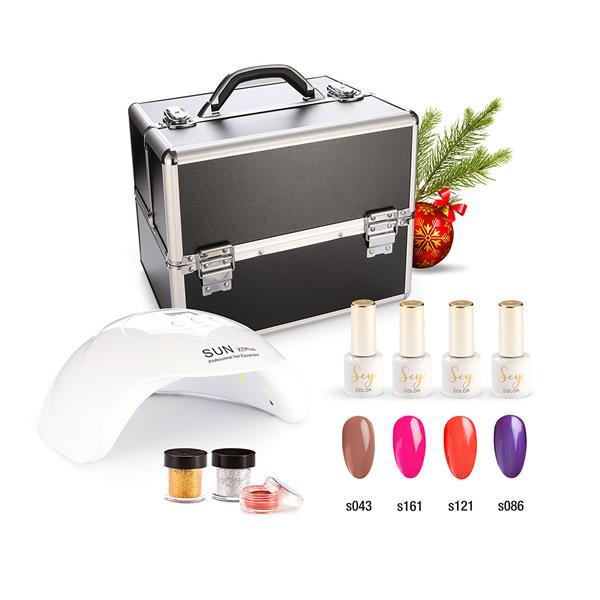 Zestaw świąteczny lakierów hybrydowych Cosmetics Zone 664542384