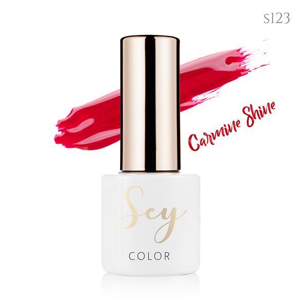 Lakier hybrydowy 7ml SEY s123 Carmine Shine 664542384