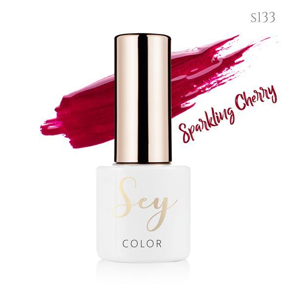 Lakier hybrydowy 7ml SEY s133 Sparkling Cherry 664542384