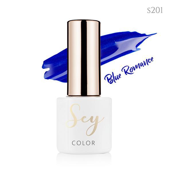 Lakier hybrydowy 7ml SEY s201 Blue Romance 664542384