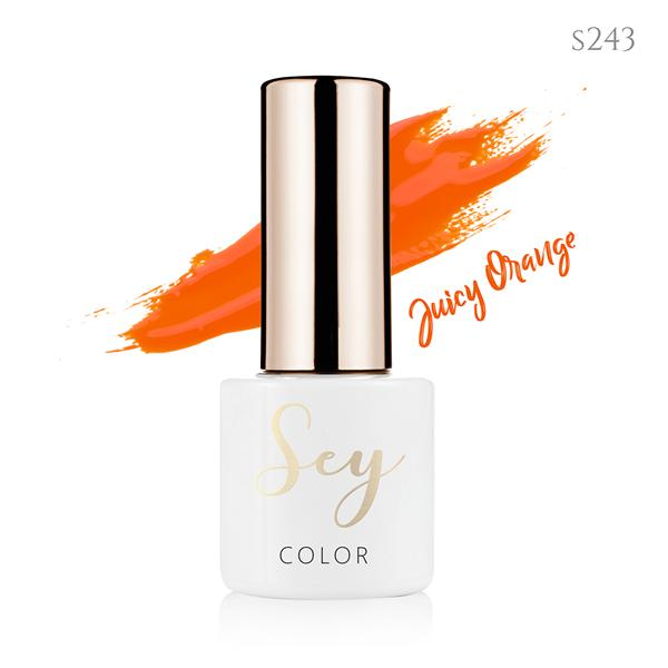 Lakier hybrydowy 7ml SEY s243 Juicy Orange 664542384